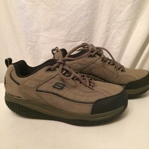 Skechers mens Taupe shapeups size 12